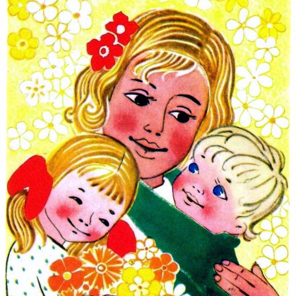 Поздравительные открытки к Женскому дню.